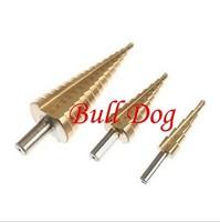 Free Shippping 100 sets / Lot 3pcs HSS Step Drill Bit Set 4241 Steel  Step Drill Bit Set --Metric Size 4-32mm, 4-20mm, 4-12mm