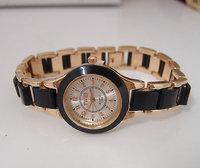 Wholesale Fashion Rose Gold Tone Crystal Rhinestone Watch Women Ladies Quartz Wrist Watch  TW016