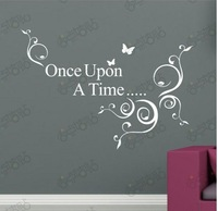 Free shipping wholesale wall decor wall PVC stickers characters Once design for finishing 60*38cm Support For Mixed