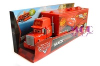 Free Shipping & Brand New Pixar Cars Toy Mack Truck Playset Semi Hauler/Trailer Car Toy - In Stock