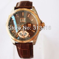 """NEW luxury men mechanical watches automatic morgan brown case brown dial mens dress watches """