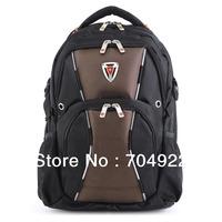 "Free shipping 2013 fashion Swiss gear backpacks for school Normal Nylon 15"" laptop backpack European style men's shoulder bag"