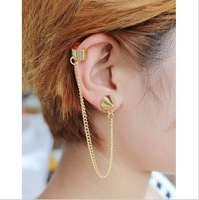2014 New Fashion Super Cool Jewelry Rivet Tassel Stud Earrings Women