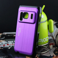 For nokia    for NOKIA   n8 wiredrawing metal mobile phone aluminum alloy case protective phone case hot-selling