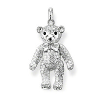 Free shipping!!! min order 8  u.s.d., new fasion style big bear with cz pendant