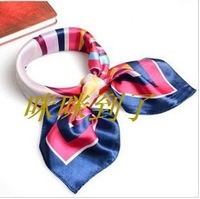 2013 scarf female red blue small silk scarf faux silk small facecloth  wholesale& retail market