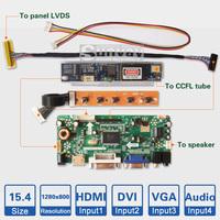 "15.4"" inch 1280*800 CCFL Backlight Laptop LCD screen controller board kit LCD panel DIY monitor driver board kit"