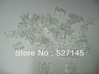 Plactic Bra Acessories 200Sets(400Pcs) Clear Plastic Bikini Bra Clips 10mm CPAM free shipping