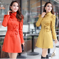 Free shipping Autumn trench outerwear 2013 women's slim lace trench female outerwear
