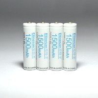 4 pcs/lot  3.2V LiFePO4 14500 Camera-specific Rechargeable Battery 1200mAh with dummy battery