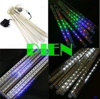 Multicolor Colorful 30cm 20 LED 2.4M 8 tubes/set 160LED Meteor Rain Shower Light Bulb Christmas Tree Free Ship 1set/lot