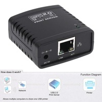 USB 2.0 Network LPR Print Server Printer Share Hub Palm Size wifi/Wireless  ethernet adapter network