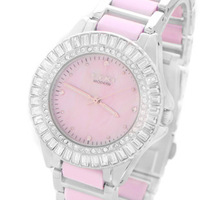 Ikey white ceramic watch women's watch fashion ladies watch rhinestone personality fashion table