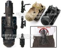 Blackhawk Night Ops CF Flashlight Holder with Mod-U-Lok Attachment(BK/DE)