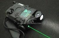 Full function an peq-15 tactical flashlight green laser indicator lamp bk black