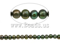 Free shipping!!!Baroque Cultured Freshwater Pearl Beads,Christmas Gift, 8-9mm, Hole:Approx 0.8mm, Length:15 Inch