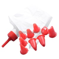 H3#R DIY Cake Pastry Decorating Icing Bag with 10 Nozzle Tips Sugarcraft Tool