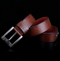 Genuine Leather Mens 2013 Classics Designer Belt Metal Needle Buckle Belt White Black Brown Cow Leather Belt Man Fashion Belt
