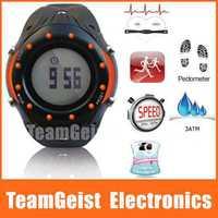 2014 NEW Sport Wireless digital Heart Rate Watch Pulse Monitor with Chest Strap belt & Memory Mode EL light Waterproof Stopwatch