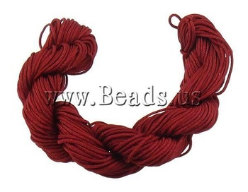 Free shipping!!!Nylon Cord,2013 new european and american style, deep red, 1mm, 300Yards/Bag, Sold By Bag