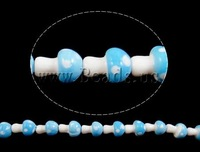Free shipping!!!Handmade Lampwork Beads,Wedding, mushroom, handmade, blue, 17x12x12mm, Hole:Approx 2-3mm