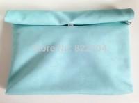 Jacqueminot . quality PU day clutch messenger bag dual-use . mint green