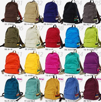 Male Women street fashion solid color backpack school bag 400g