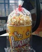 Free shipping, 32 popcorn bucket popcorn packaging bag packing bags transparent bags 200PCS ligation