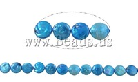 Free shipping!!!Coin Cultured Freshwater Pearl Beads,Wholesale Jewelry, Button, blue, 13-14mm, Hole:Approx 1mm