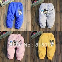 Retail children's clothing BOYS GIRLS mickey cotton trousers new 2014 spring autumn children pants