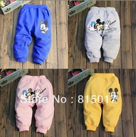 Retail children's clothing BOYS GIRLS mickey cotton trousers new 2014 spring autumn children pants