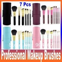 Portable 7pcs professional Makeup Brushes & Tools Eyeshadow Brushes Set Cosmetics brushes for makeup,makeup kit free shipping