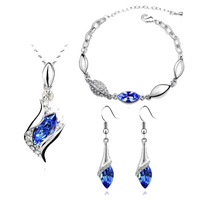 Crystal Accessories Set Accessories Piece Set Fairy Necklace Bracelet Earrings Accessories