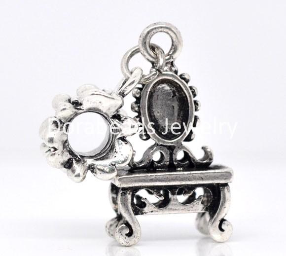10 Dresser Dangle Beads Fit Charm Bracelet 40x13mm (B08615)8seasons(China (Mainland))