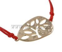 Free shipping!!!Fashion Bracelet Jewelry,australian, Wax Cord, zinc alloy lobster clasp, red, 36x19x2mm, Length:7.5 Inch