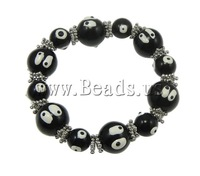 Free shipping!!!Halloween Bracelet,promotion, Glass, with Zinc Alloy, brushwork, 10mm, Length:7.5 Inch, Sold Per 7.5 Inch