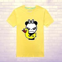Trend street hip-hop hiphop hello panda short-sleeve T-shirt plus size