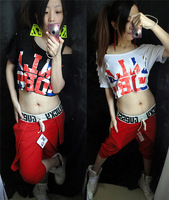 Ds clothes female singer costume hip-hop hiphop jazz dance jazz t-shirt top