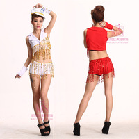 Jazz dance clothes modern dance tassel dance female singer set ds costume costumes