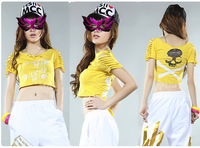 Female costume costumes ds fashion hip-hop pants hiphop jeans modern dance jazz trousers jazz dance clothes