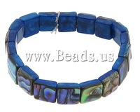 Free shipping!!!Abalone Shell Bracelet,Fashion, Square, 10x10x4mm, Length:7 Inch, 5Strands/Lot, Sold By Lot
