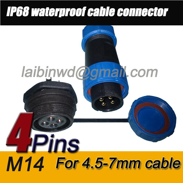 M14-IP68-4-pin-Dustproof-Aviation-Connec