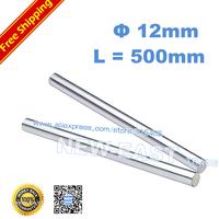 4pcs dia 12mm - L500mm chrome plated Cylinder Linear Rail Round Rod Shaft Linear Motion Shaft for CNC XYZ