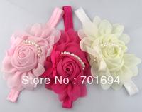 rose pearl flower baby hair children  hair accessories Princess headbands