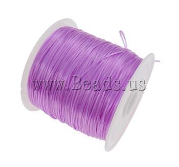 Free shipping!!!Elastic Thread,2013 Fashion Jewelry, elastic, Korea Imported, purple, 1mm, Length:Approx 1750 m, 25PCs/Bag