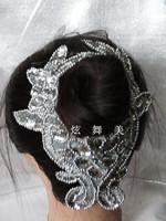 Clothes accessories dance clothes decoration stage clothes decoration dance hair accessory hair accessory paillette flower