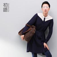 2013 autumn shirt collar embroidery long-sleeve dress