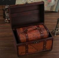 Fashion vintage storage box plus size wool classical storage box wooden box antique treasure box