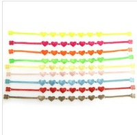 Free shipping!  Wholesale 144pcs/lot Mixed Multi Colorful  2013 Fashion Italy design neon Charm lace Knitted bracelets for women