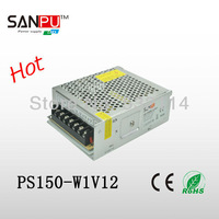 150W 12.5A Switching Power Supply For LED Strip light, input AC100V-240V,12V output Free Shipping